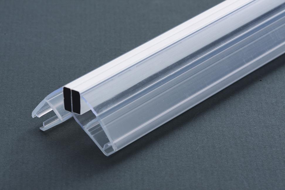 Custom Clear Pvc Edging Strips For Shower Door Glass