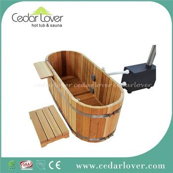 Japanese Style Wooden Bathtub Oval Spa