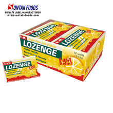 Private Label Throat Lozenge Sugar Free Mint Candy In Blister Pack