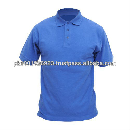 100% Cotton single jersey men's polo shirt