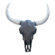 Custom Made Animal Wall Hanging Resin Buffalo Head Statues Bison Skull