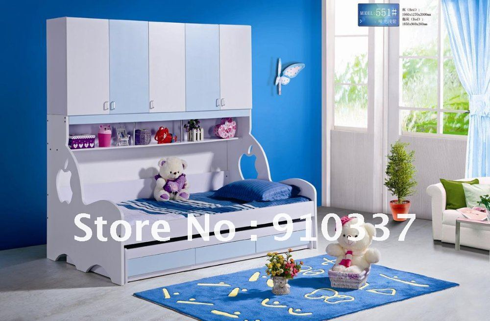 Mdf Panels Kids Bed Twin Full Bunk Bed With Underbed
