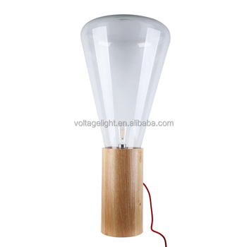 Modern edison bulb standing lights transparent glass shape natural modern edison bulb standing lights transparent glass shape natural wooden base lamp mushroom shape floor lamp aloadofball Choice Image