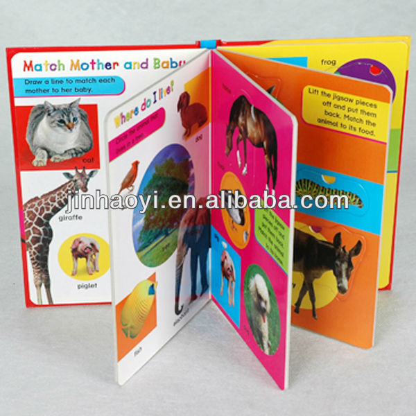 children cardbook printing factory with DVD/CD/VCD