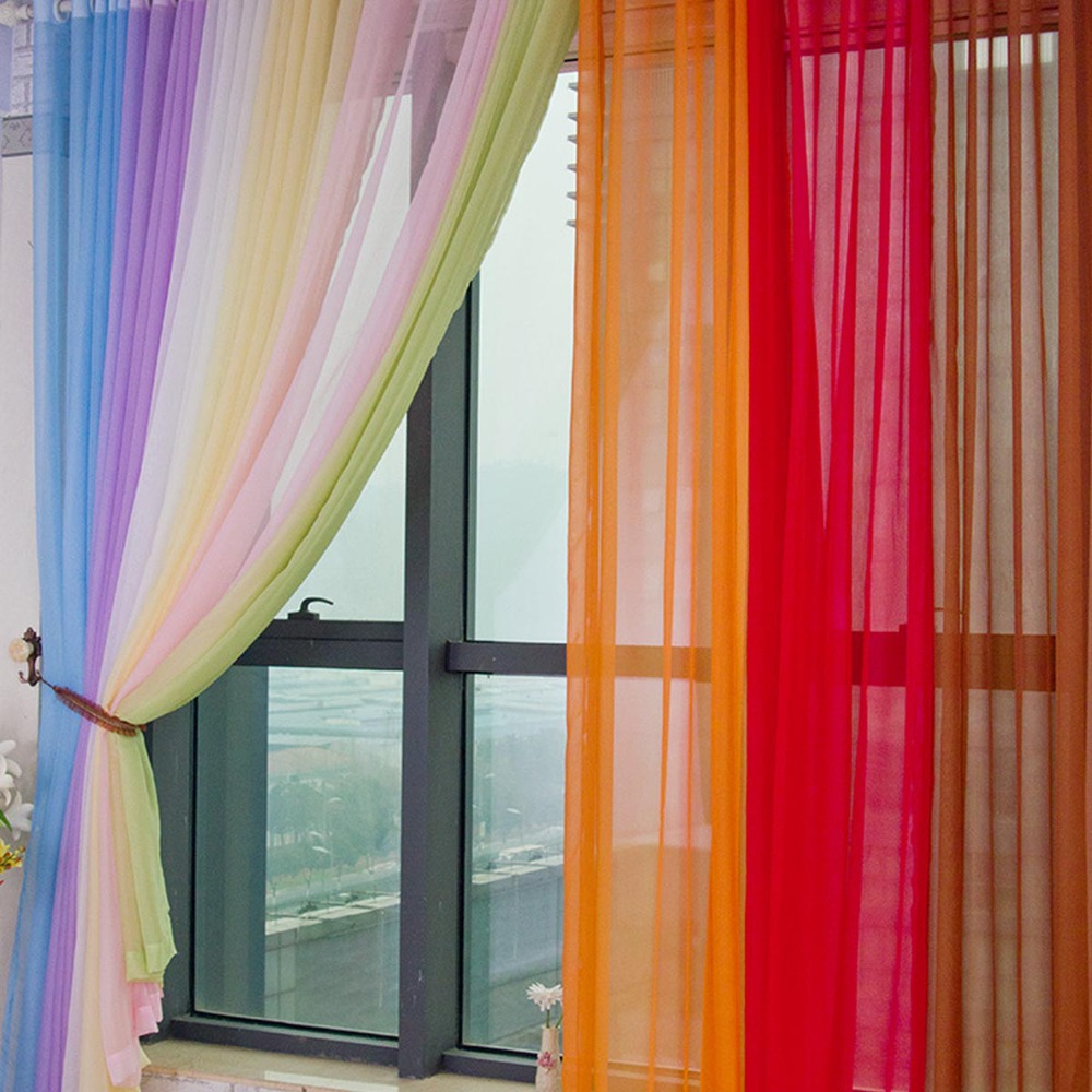 Room Decoration Window Curtains 55 X84 With Multi Color