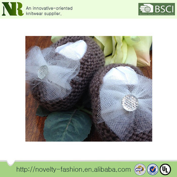 New Style Design Baby Shoes Cute Knitted Boots Soft Warm Baby Shoes