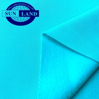 autumn sports vest coat garment cloth 100% polyester full dull brushed PK jersey polar fleece fabric