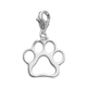 Custom Design Animal Lover dog collar Pendant Metal Cats Dog pets Paw Print Charm