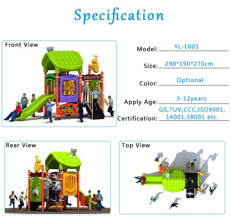 jogo de diversões de alta qualidade crianças ao ar livre playground equipamentos de slides