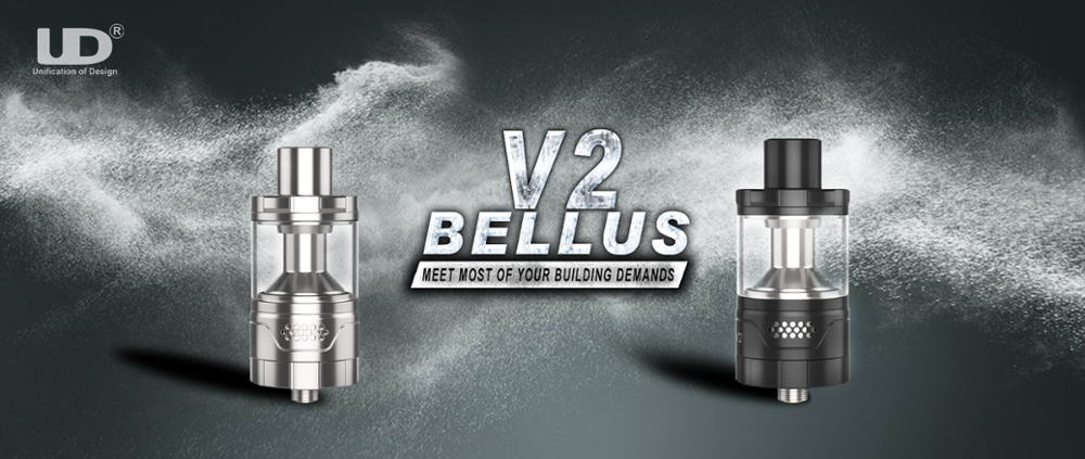 2017 RBA Atomizer new arrival 5ml vape tank UD Bellus V2 atomizer huge vapor
