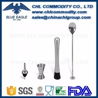 4pcs high quality bar accessory stainless steel bar tool set.