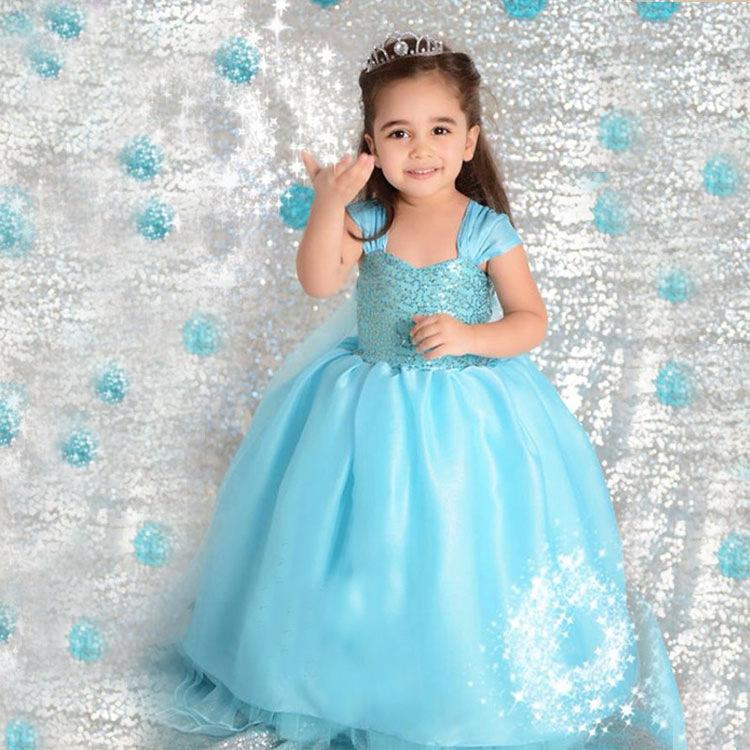 Elsa kleid baby mädchen party kleider kids maß Film Cosplay Kleid ...