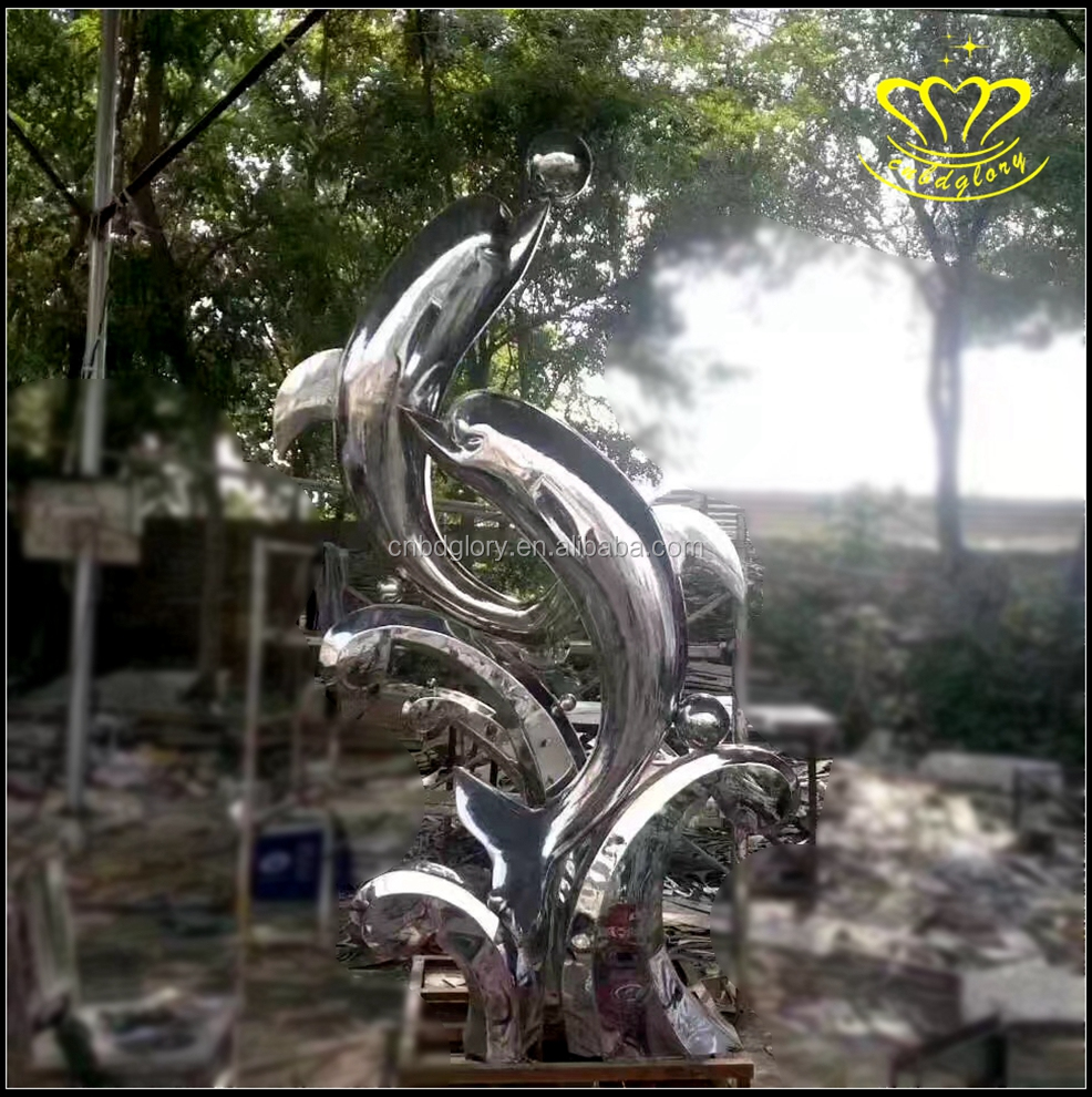 Square large stainless steel sculpture landscape sculpture city landmark project