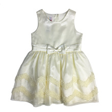 Cute yellow sleeveless baby girl dress