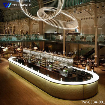 Commercial Modern Restaurant Bar Counter Design For Sale - Buy ...