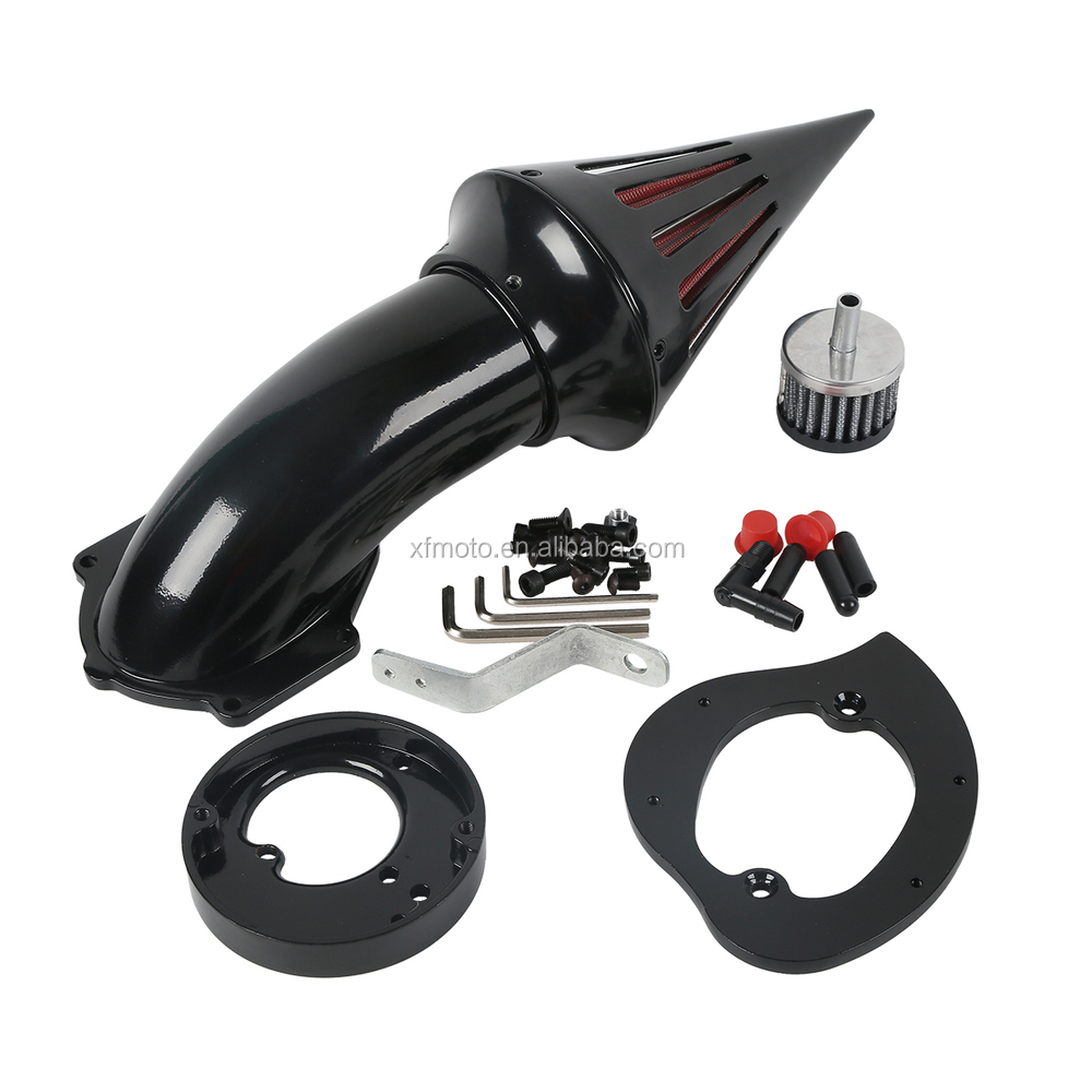 Black Spike Air Cleaner Kits Intake Filter For Honda VTX 1300 All Years
