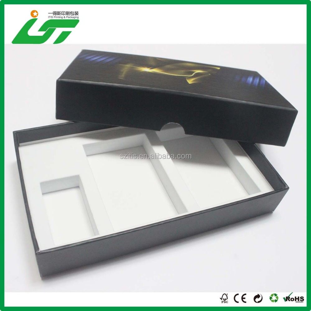 High quality <strong>black</strong> paper box with custom logo for gift manufacture