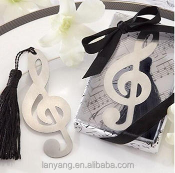 Stainless Steel Music Note Personalised Bookmark Silver Tone