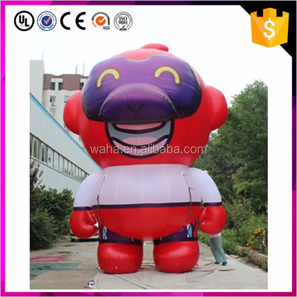 wholesale customized party decoration red color inflatable monkey