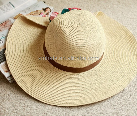 Zhejiang manufacture Fast Delivery classical ladies beach panama straw hat