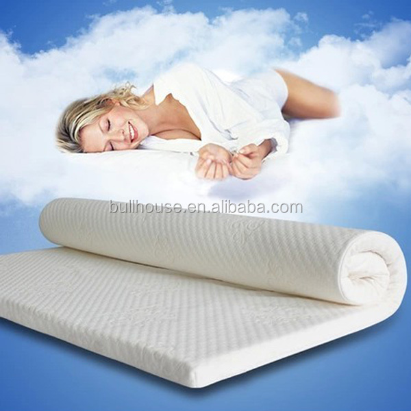 High Resilient Cool Memory Foam Reflex Rollable Bed/Mattress Topper
