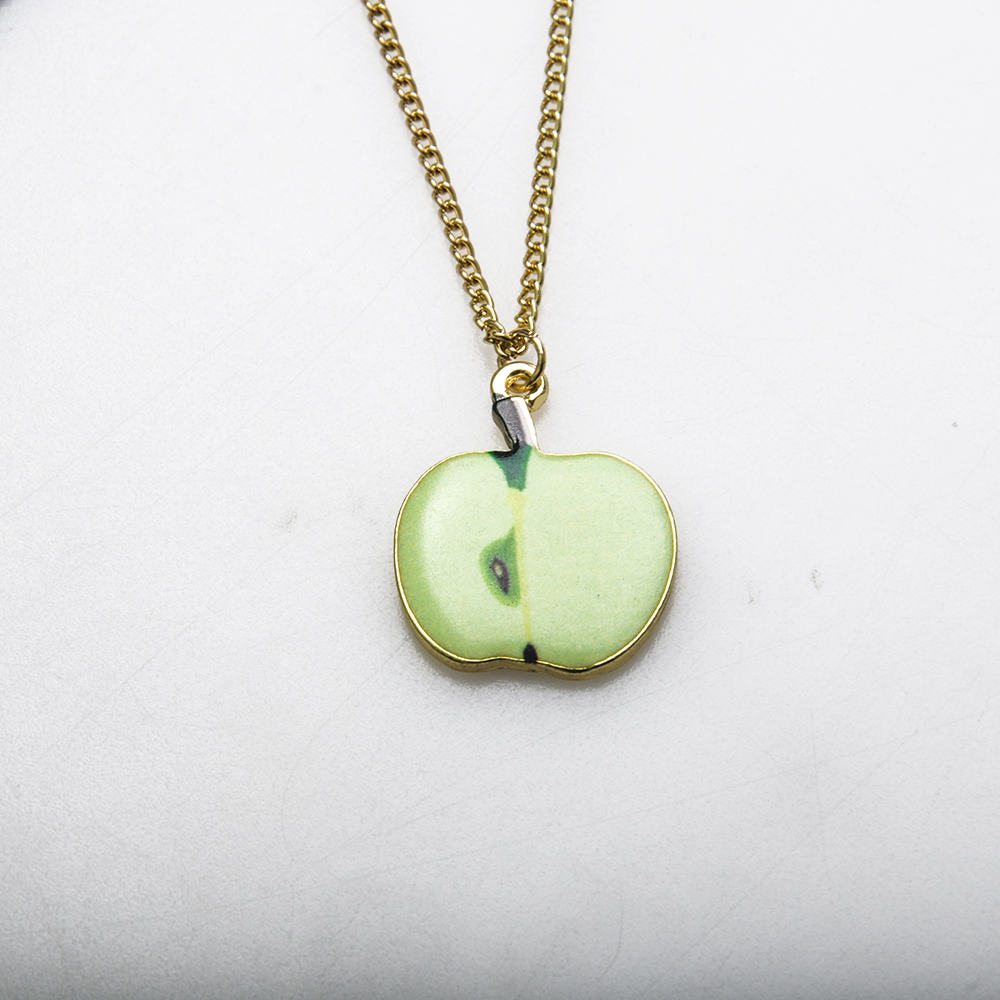 Fruit Apple Shape Charm Gold Chain Necklace Design