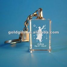 promotional zinc alloy metal crown keychains with crystal