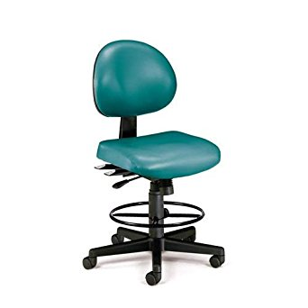 OFM 241-VAM-DK-602 24 Hours Anti-Microbial Vinyl Computer Task Chair with Drafting Kit