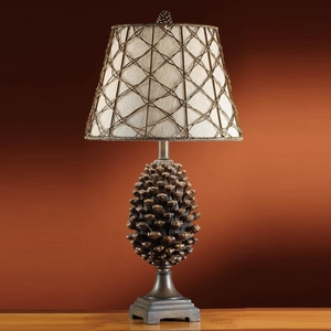 wholesale decorate resin pinecone hotel table lamps for home decor