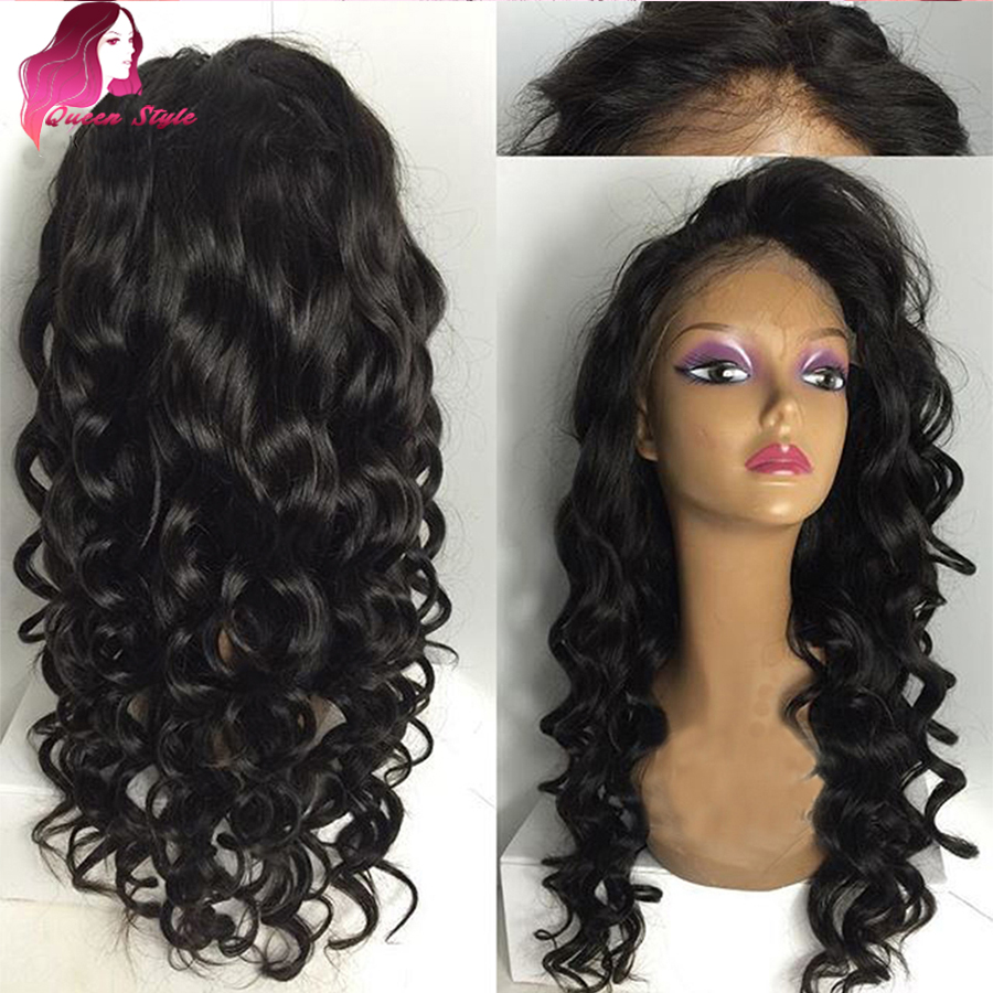 full lace curly human hair wigs with baby hair malaysian