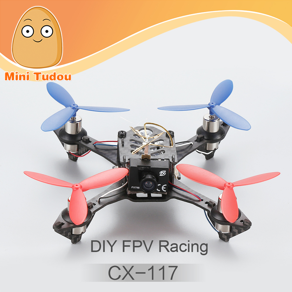 Minitudou Wholesale Cheerson RC CX-117 Quadcopter Carbon Fiber Mini DIY FPV Racing Drone Kit VS Coretexrc Tiny 115