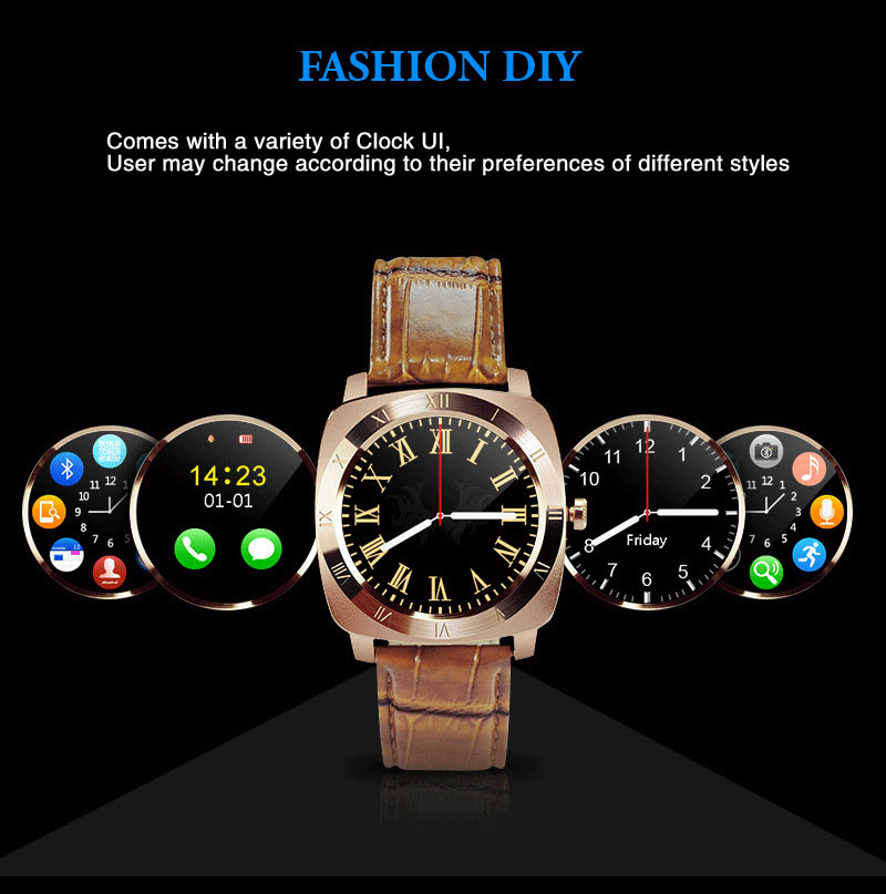 Alibaba hot selling waterproof talking smart watch mobile phone