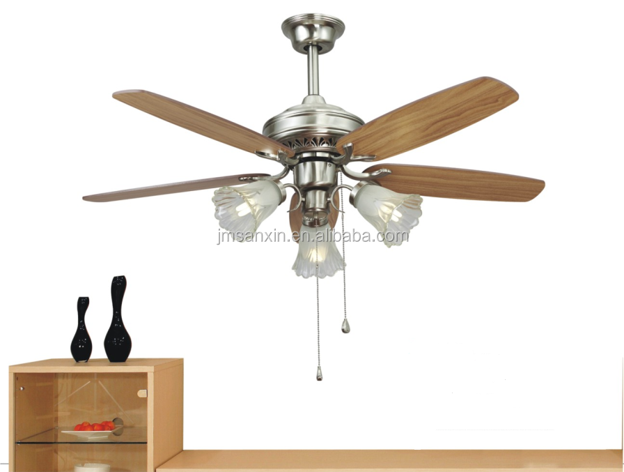 2016 Popular 48inch Greenhouse exhaust decorative ceiling fan with led light