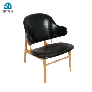 high quality hot sale black banquet solid wooden restaurant leather dining chairs for living room