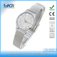 Lady mesh watch with great dial japan movt quartz watch stainless steel back water resistant