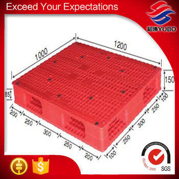 Red custom color plastic pallet