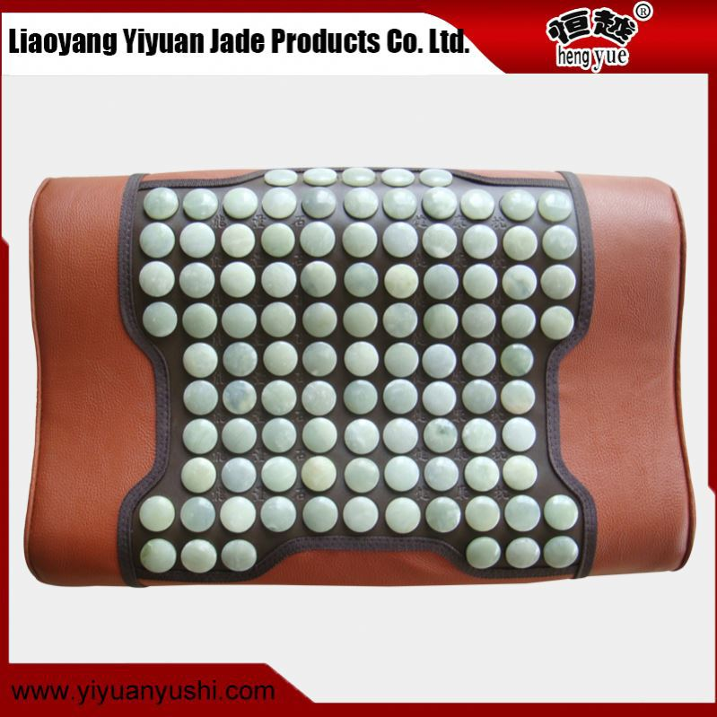Suitable price relax the whole body jade heating thermal massage pillow