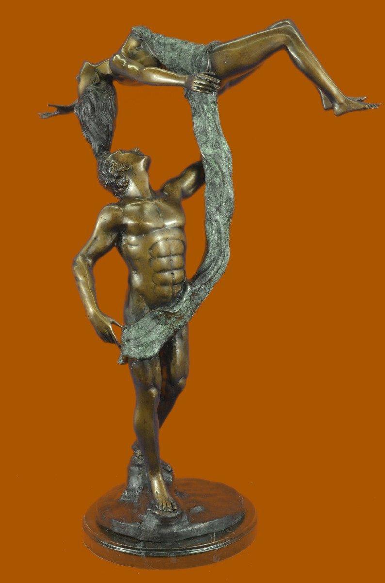 Buy HandmadeEuropean Bronze Sculpture Signed