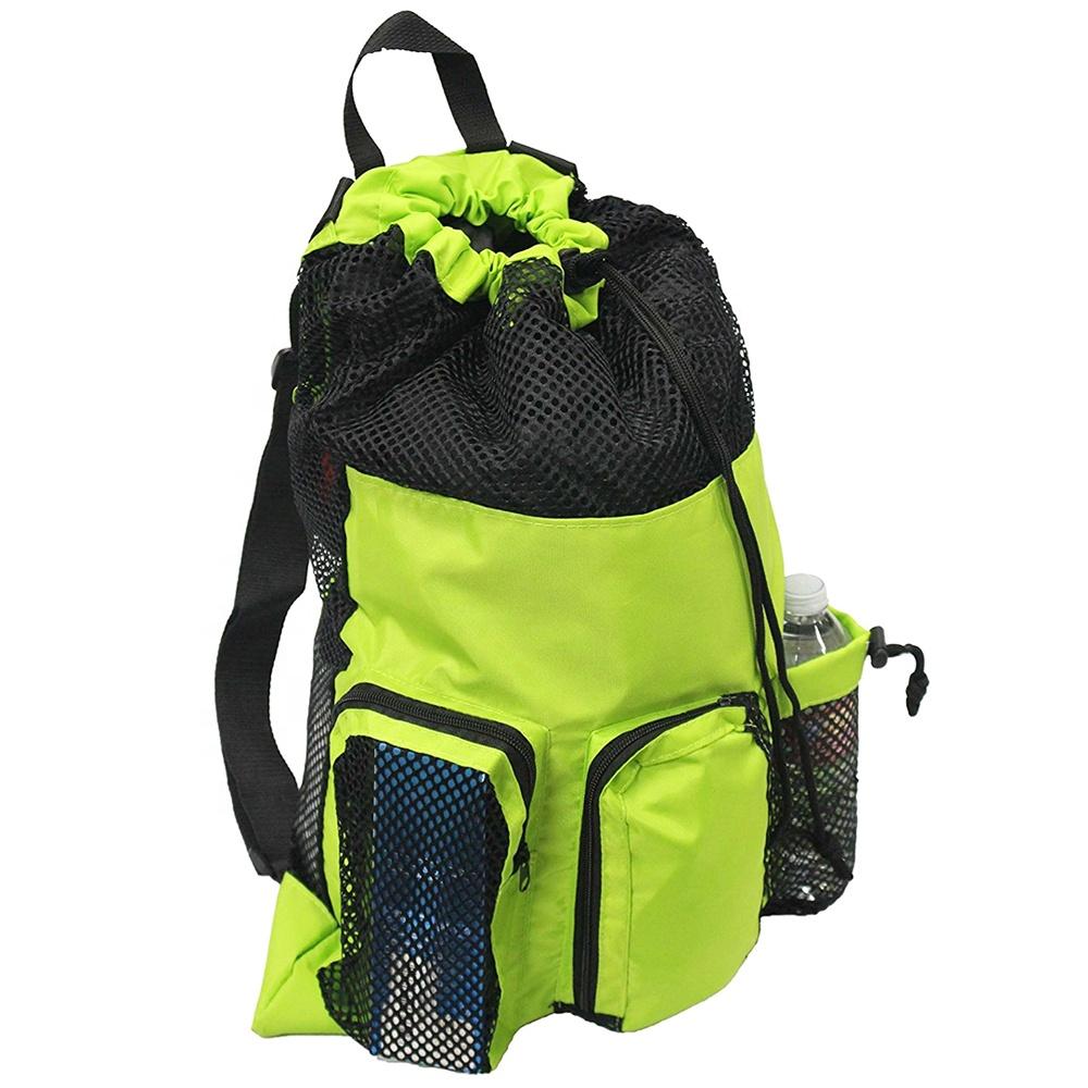 Whole Waterproof Nylon Swim Backpack Drawstring Mesh Equipment Bag Product On