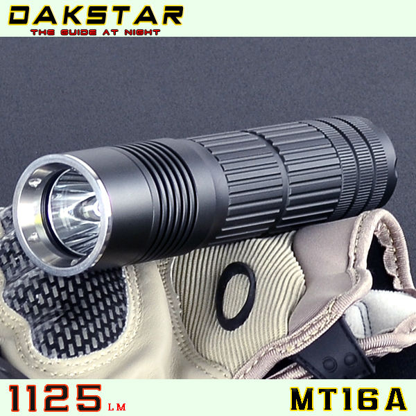 DAKSTAR MT16A XML T6 1125LM 26650 Battery LED High Power Police CREE Flashlight