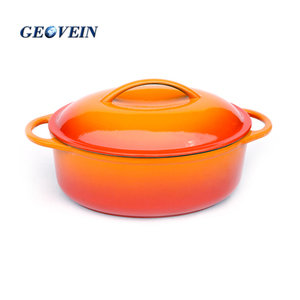 High quality cast iron enamel covered oval baking dish casserole