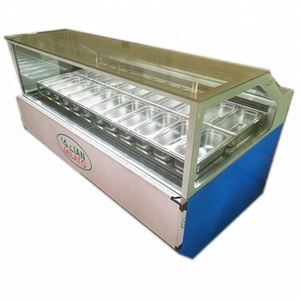 49-INCH ICE CREAM DISPLAY SHOWCASE/Authentic gelato display cases and freezers for up to 24 flavors