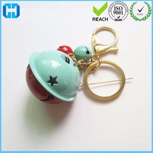 Fashion Women Bag Pendant Metal Jingle Bell With Lobster Clasp Keychain