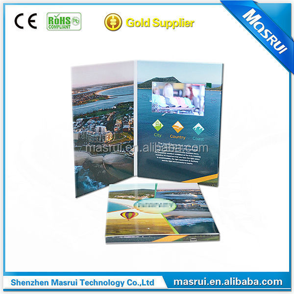 gift item luxury video in print card for real estate