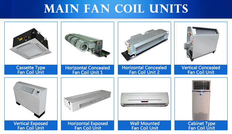 Fan Coil Unit : Air conditioning chilled water vertical concealed fan coil