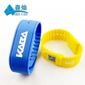 Access control t5577 rfid silicone id key wristband for hotel room