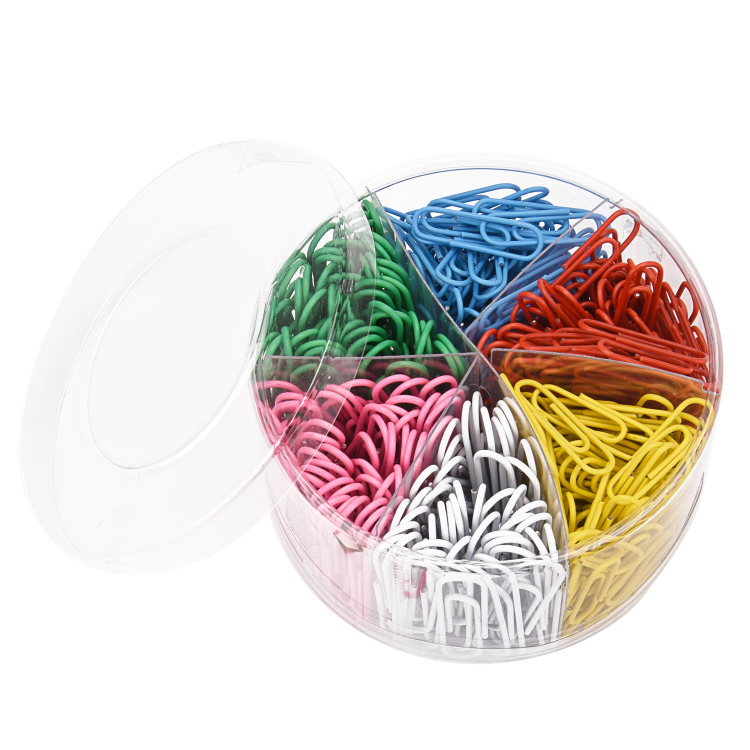 Sunmns 450 Pieces Colourful Paper Clips, Medium 1 1/10 Inch and Large 2 Inch Sizes