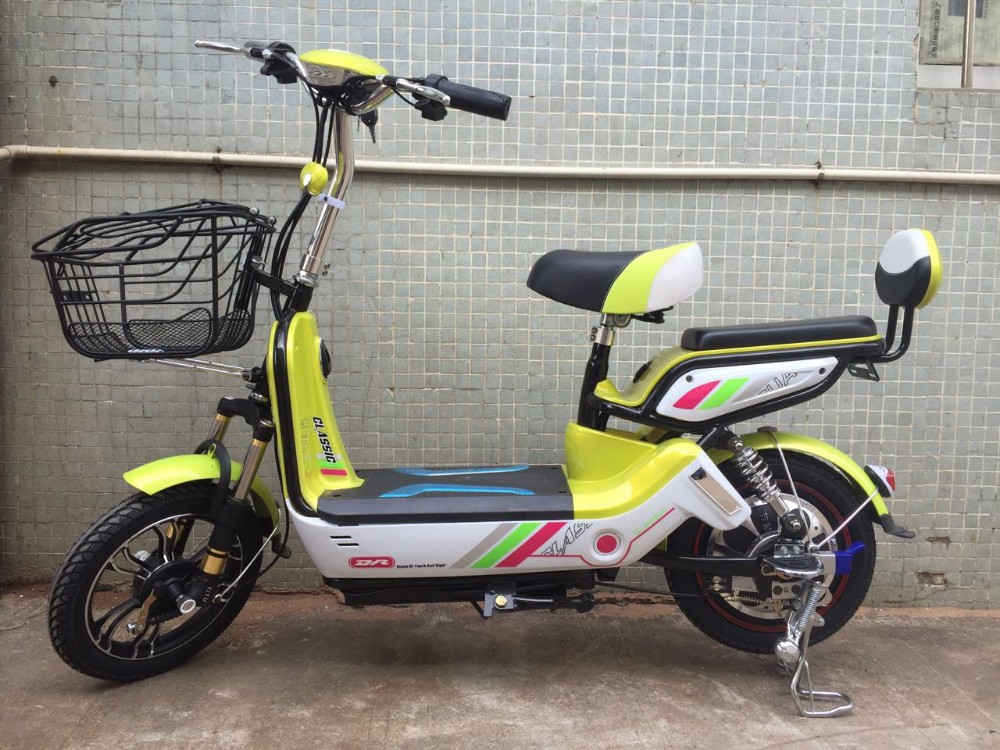 350w small 16 inch young people two wheels standing up for Small motor scooters for sale