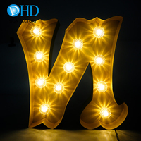 Mr Mrs love wedding decorations marquee sign letters customized size led bulb sign lighting letters