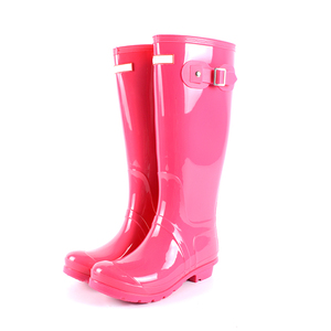 Shining pvc rain boots for women hunting rubber boots women wholesale